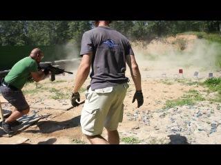 Упражнение по практической стрельбе из гладкоствольного карабина Вепрь 205